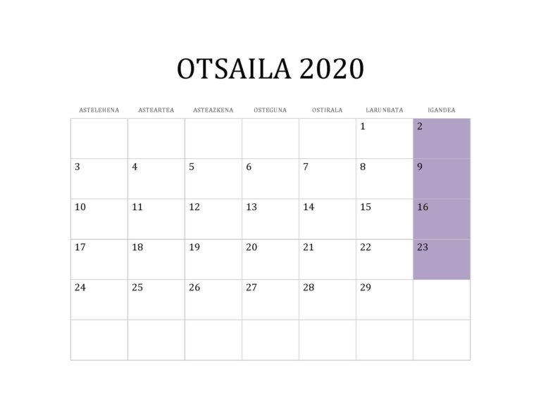 OTSAILA 2020