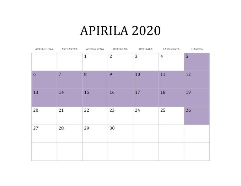 APIRILA 2020