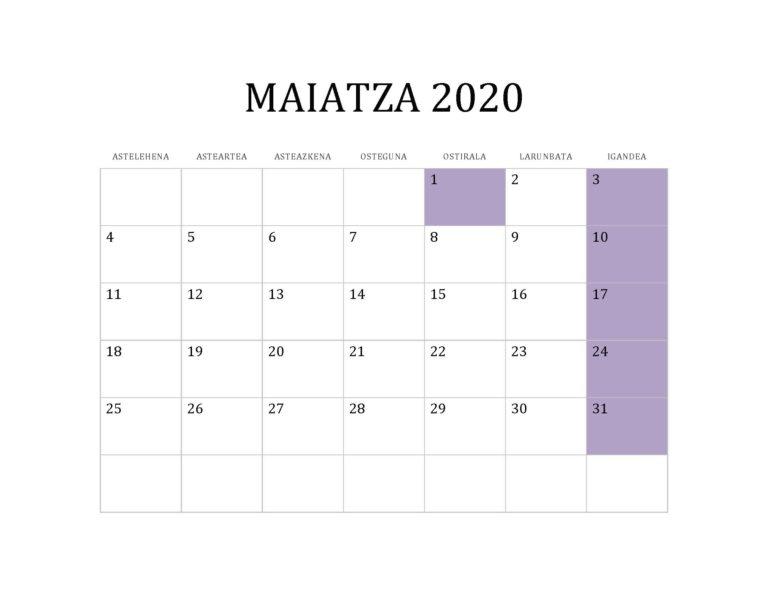 MAIATZA 2020