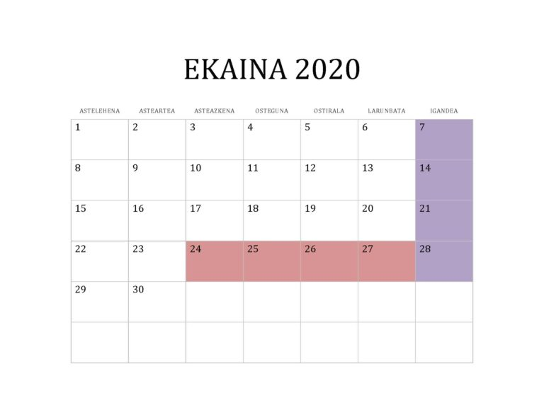 EKAINA 2020