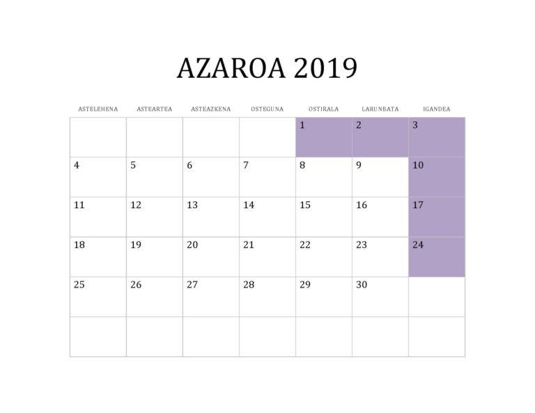 AZAROA 2019