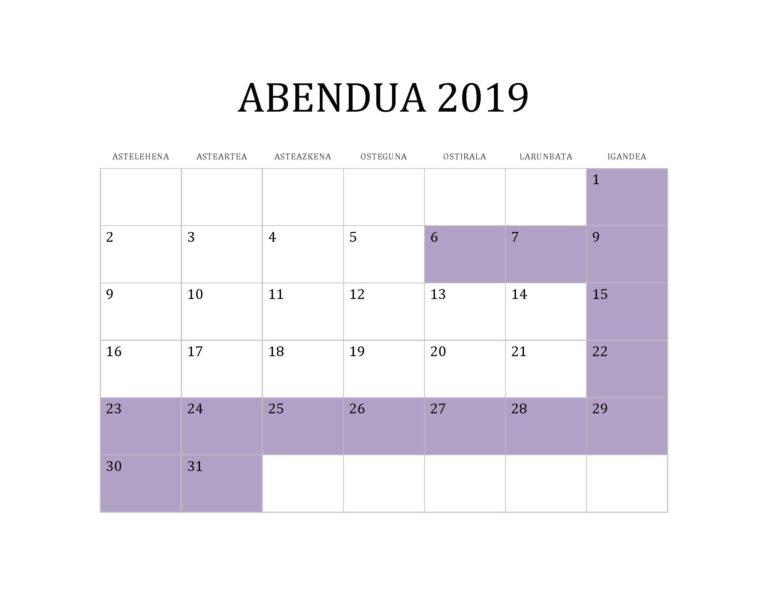 ABENDUA 2019