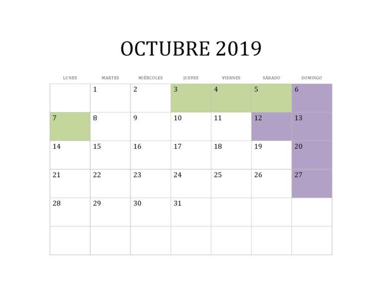 OCTUBRE 2019